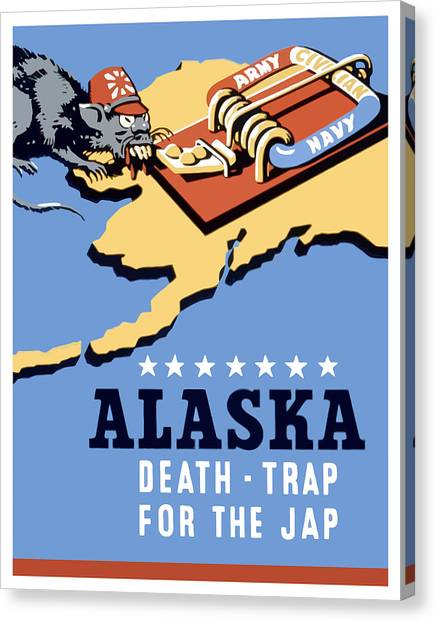 Death Canvas Print - Alaska Death Trap by War Is Hell Store