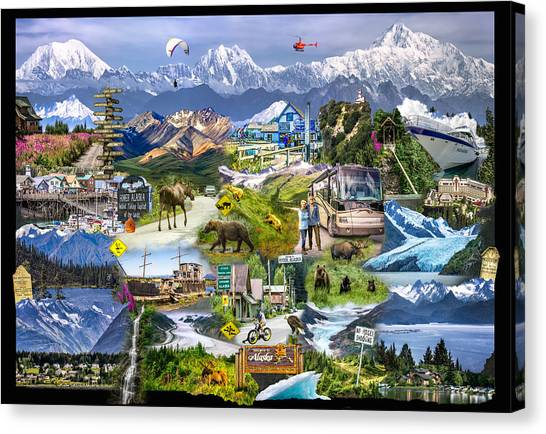 Canvas Print featuring the photograph Alaska In One Photograph by Claudia Abbott