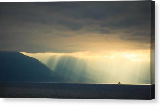 Alaska Inside Passage Under The Clouds Canvas Print