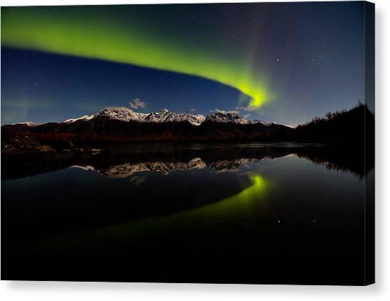 Alaska Northern Lights Canvas Print by Sam Amato