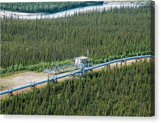 Alaska Pipeline - Koyukuk River Canvas Print