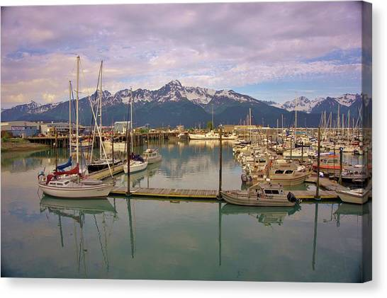 Canvas Print - Alaskan Harbor by Red Cross
