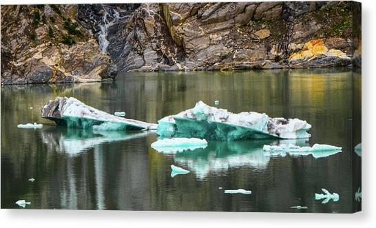Alaskan Icebergs Canvas Print