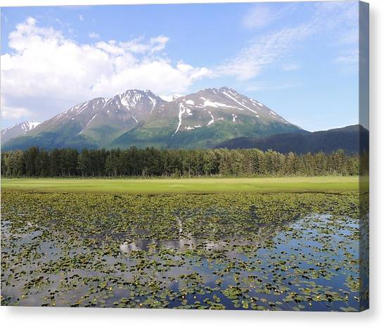Canvas Print - Alaskan Mountain Genuflection by Red Cross
