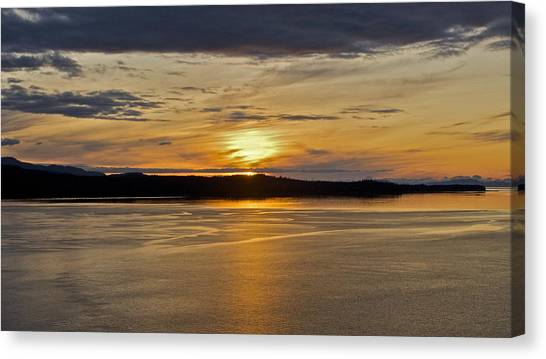 Alaskan Sunset Canvas Print by Robert Joseph