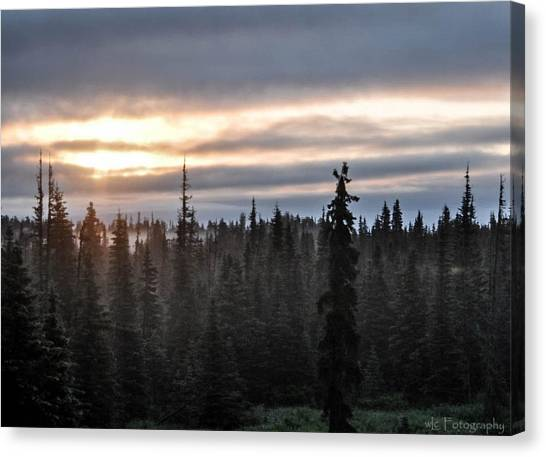 Alaskan Sunset Sunrise Canvas Print