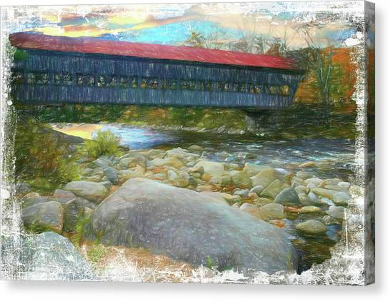 Albany Covered Bridge Nh. Canvas Print