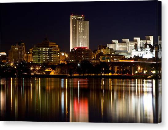 Albany On The Hudson Canvas Print