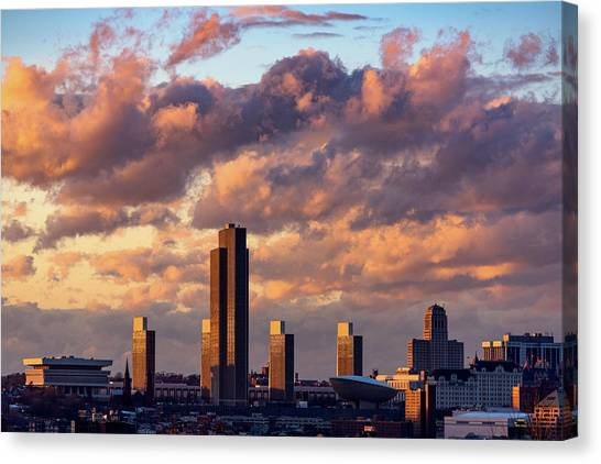 Albany Sunset Skyline Canvas Print