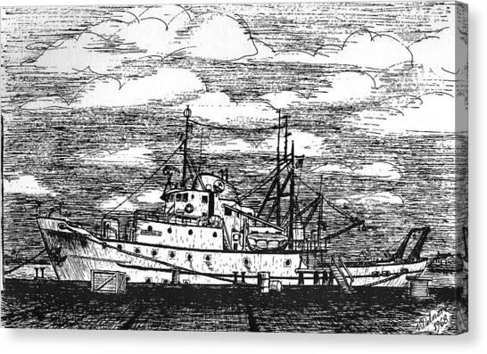 Albatross Iv At Fisheries Pier Canvas Print