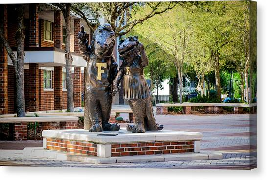 University Of Florida Canvas Print - Albert And Alberta Gator by Louis Ferreira