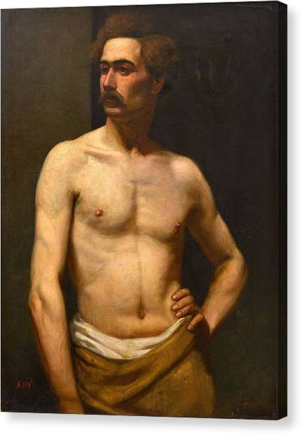 Albert Edelfelt Male Model Canvas Print