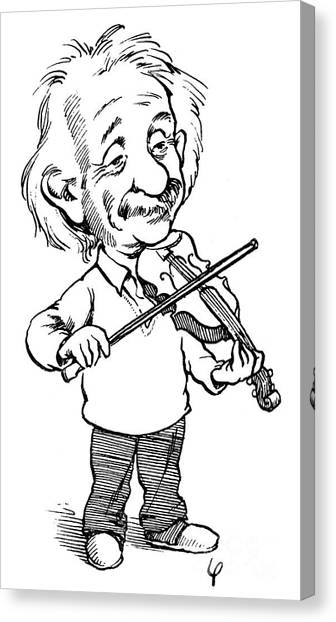 Violins Canvas Print - Albert Einstein (1879-1955) by Granger