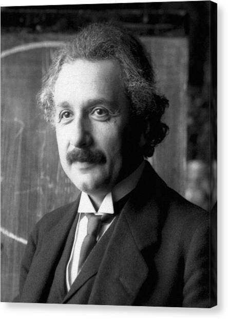 Albert Einstein Nel 1921 Canvas Print