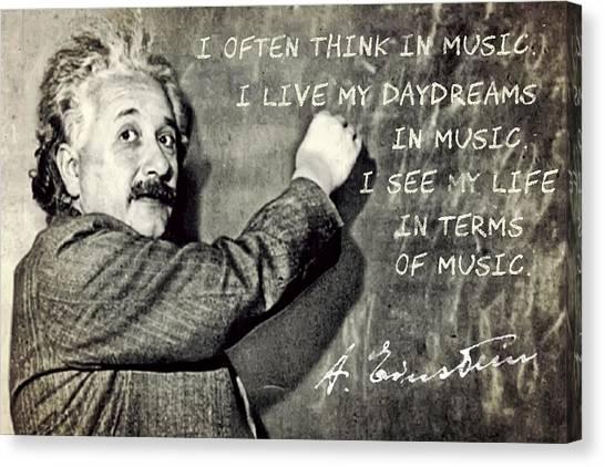 Albert Einstein, Physicist Who Loved Music Canvas Print