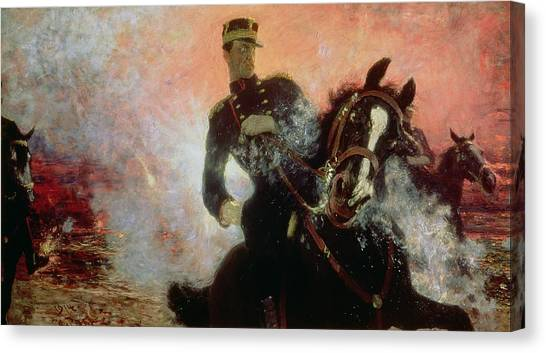 War Horse Canvas Print - Albert I King Of The Belgians In The First World War by Ilya Efimovich Repin