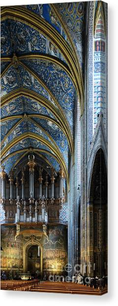 Albi Cathedral Nave Canvas Print
