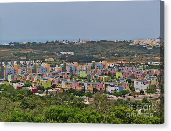 Albufeira Marina View Canvas Print