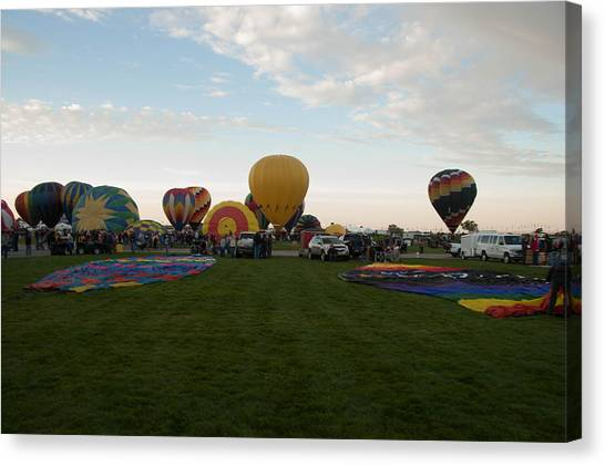 Hot Air Balloons Canvas Print - Albuquerque Balloon Fiesta by Jared Campbell