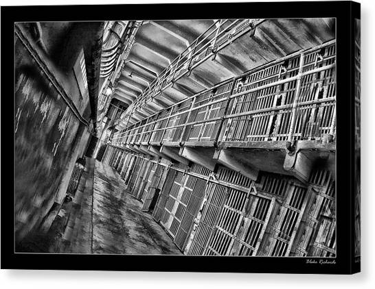 Alcatraz The Cells Canvas Print