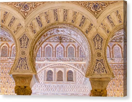 Alcazar Of Seville - Unique Architecture Canvas Print