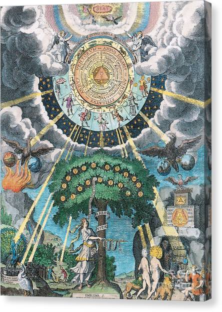 Alchemy Coagulation Canvas Print