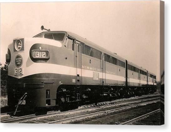 Alcoa Ge Freight Locomotive Canvas Print