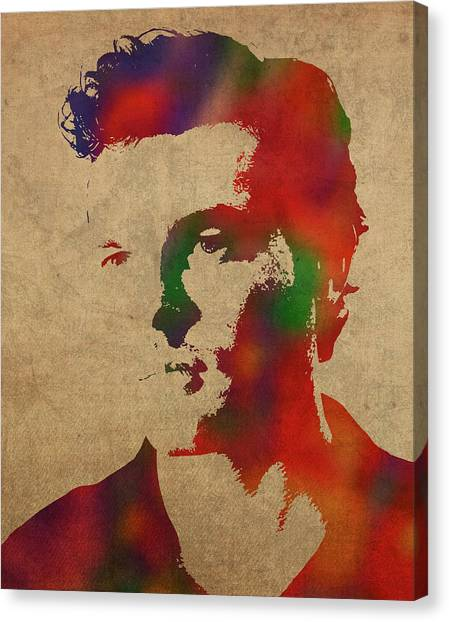 Han Solo Canvas Print - Alden Ehrenreich Watercolor Portrait by Design Turnpike