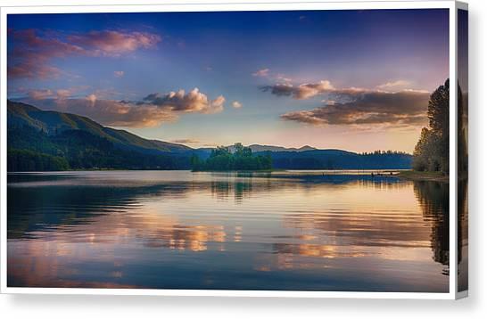 Alder Lake Sunset Canvas Print