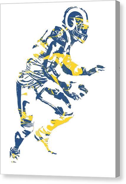 Los Angeles Rams Canvas Print - Alec Ogletree Los Angeles Rams Pixel Art 1 by Joe Hamilton