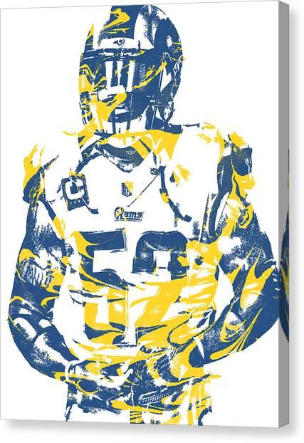Los Angeles Rams Canvas Print - Alec Ogletree Los Angeles Rams Pixel Art 2 by Joe Hamilton