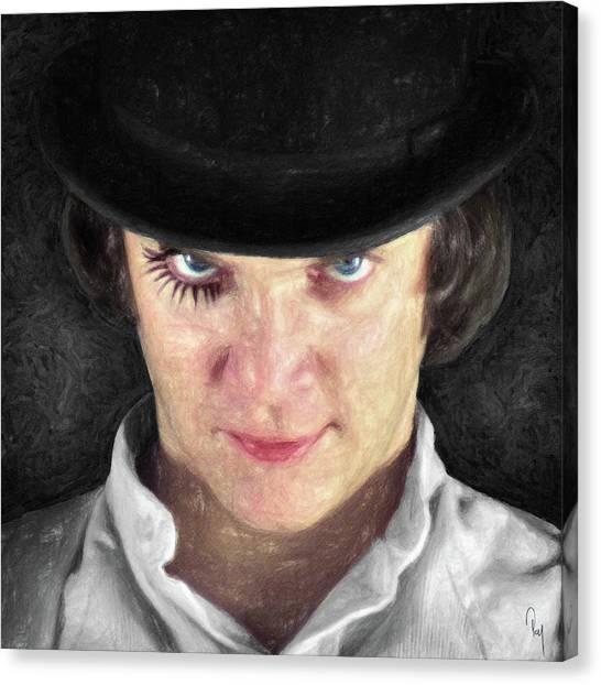 English And Literature Canvas Print - Alex Delarge by Zapista