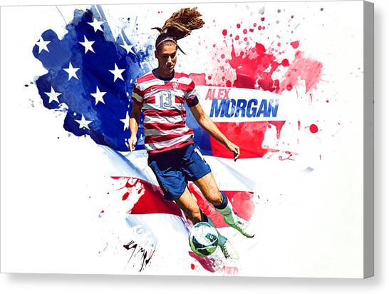 Lionel Messi Canvas Print - Alex Morgan by Semih Yurdabak