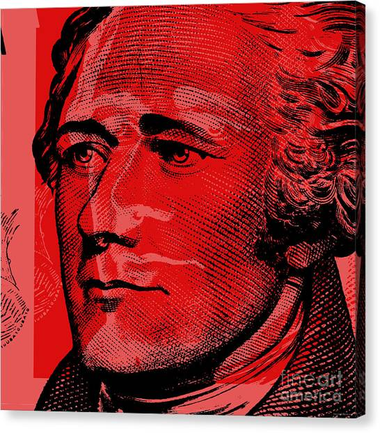 Alexander Hamilton - $10 Bill Canvas Print