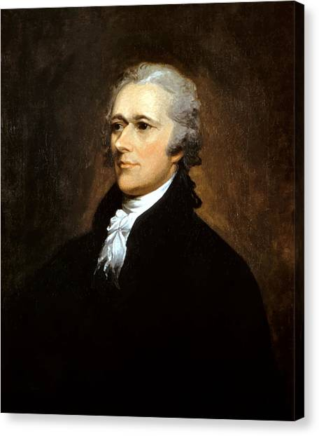 History Canvas Print - Alexander Hamilton by War Is Hell Store