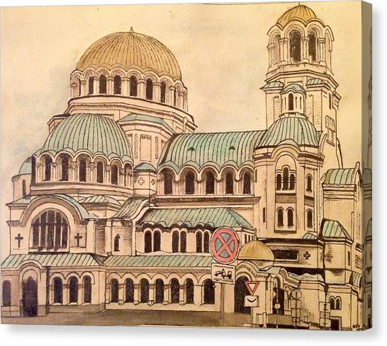 Alexander Nevsky Cathedral Canvas Print by Lauren Ullrich