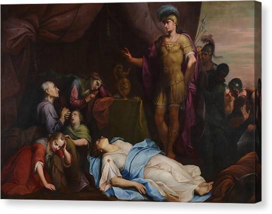 Neoclassical Art Canvas Print - Alexander Of Macedon Before Darejevo by Giambettino Cignaroli