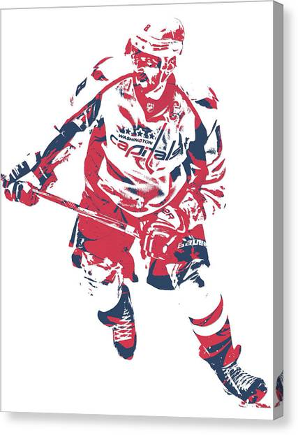 Washington Capitals Canvas Print - Alexander Ovechkin Washington Capitals Pixel Art 17 by Joe Hamilton