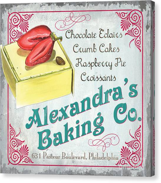 Strawberry Canvas Print - Alexandra's Baking Company by Debbie DeWitt