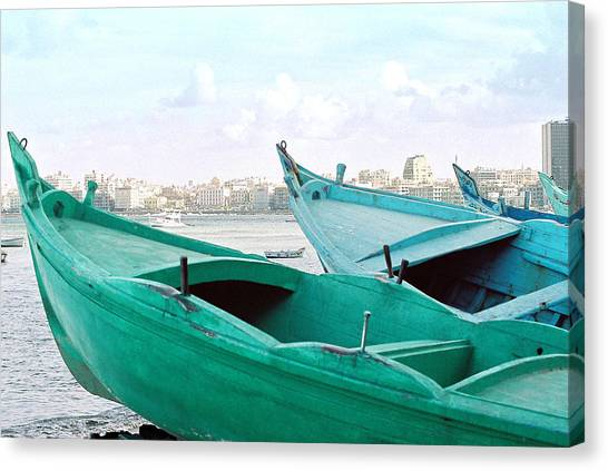 Alexandrian Boats Canvas Print
