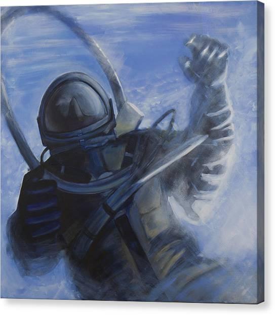 Astronauts Canvas Print - Alexei Leonov by Simon Kregar