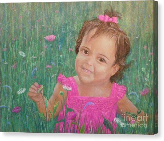 Alexis In Pink Canvas Print