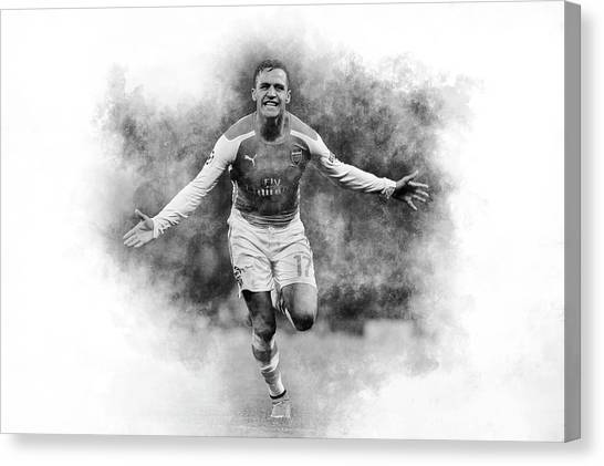 Arsenal Fc Canvas Print - Alexis by Robert Barsby
