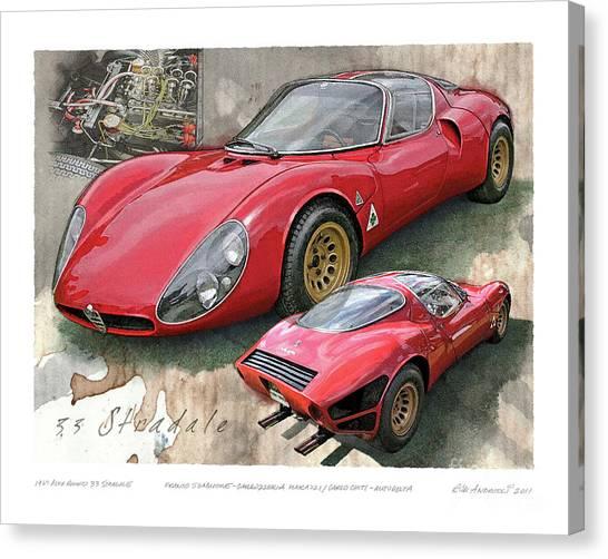 1967 Alfa Romeo 33 Stradale Canvas Print