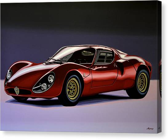 Old Door Canvas Print - Alfa Romeo 33 Stradale 1967 Painting by Paul Meijering