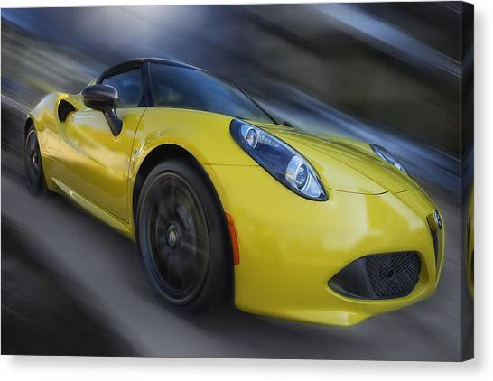 Alfa Romeo 4c Spider Canvas Print by Larry Helms