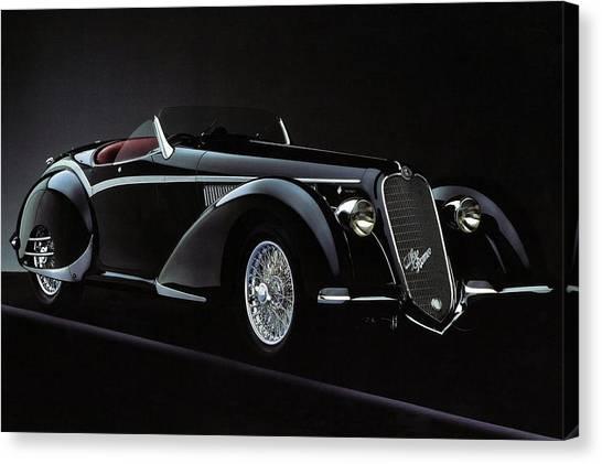 Alfa Romeo 8c 2900 Mercedes Benz Canvas Print