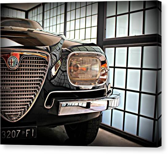 Alfa Romeo In Black Canvas Print