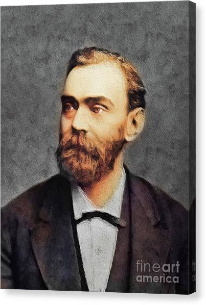 Nobel Canvas Print - Alfred Nobel, Famous Scientist by John Springfield
