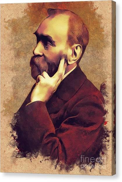 Nobel Canvas Print - Alfred Nobel, Inventor by Mary Bassett